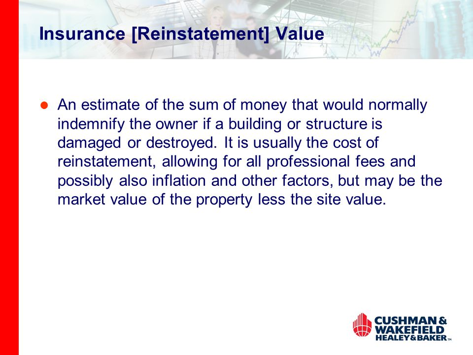 Insurance [Reinstatement] Value